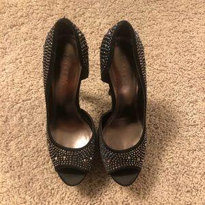 Bakers Shoes - Bakers Showstopper bling platform heels